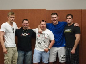 Miocic with The Crippler, Tomislav Magdic, Andrija Pavlic